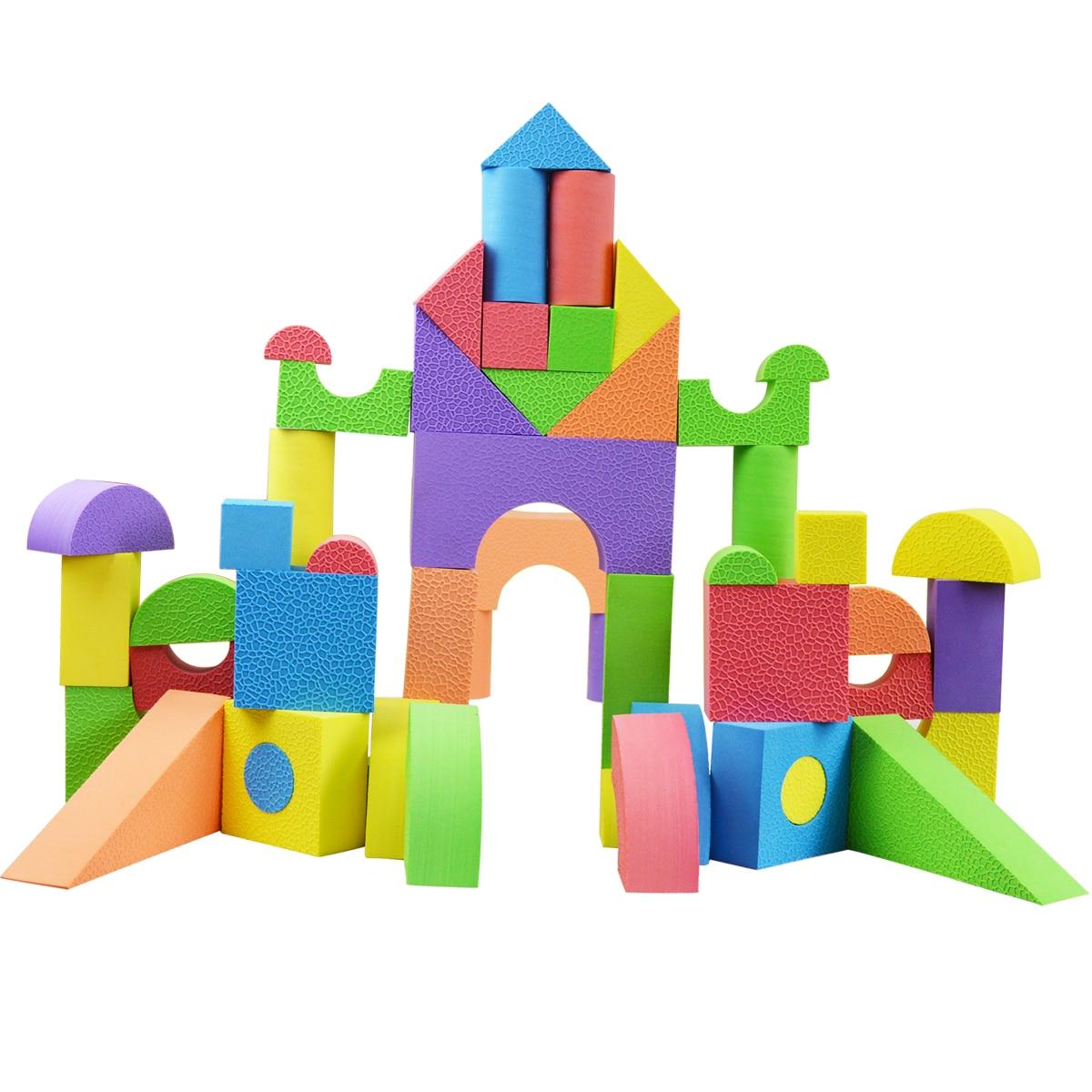 Large foam blocks baby toy eva soft blocks child sponge for Foam blocks for building houses