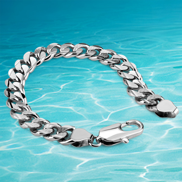 Silver Bralcet Men Real Bracelet 925 Sterling Jewelry Thick Genuine Solid In Bangles From