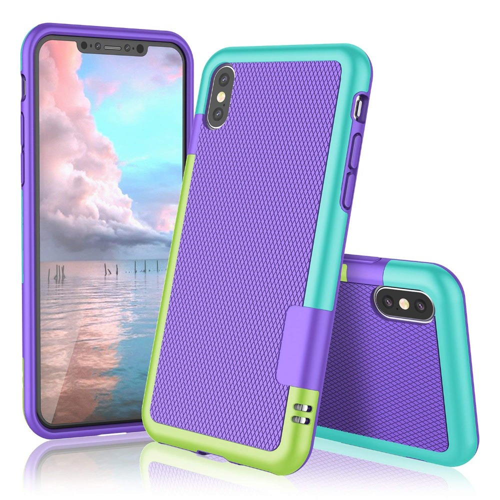 HTB1KRw1RrrpK1RjSZTEq6AWAVXae Ultra Slim 3 Color Hybrid Anti-slip Shockproof Phone Case for iphone X XS MAX XR Soft TPU Silicon Cover For iphone 7 8 6 6S Plus