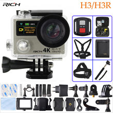 Actie Camera H3/H3R Ultra HD 4 K 1080 P Afstandsbediening 2 inch 170D Gaan Groothoek pro Dual Screen Sport camera(China)