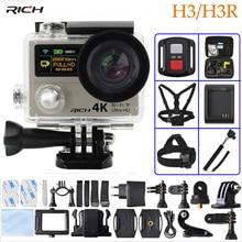 Action Camera H3/H3R Ultra HD 4K 1080P Remote Control 2 inch 170D Go Wide Angle pro Dual Screen Sport camera