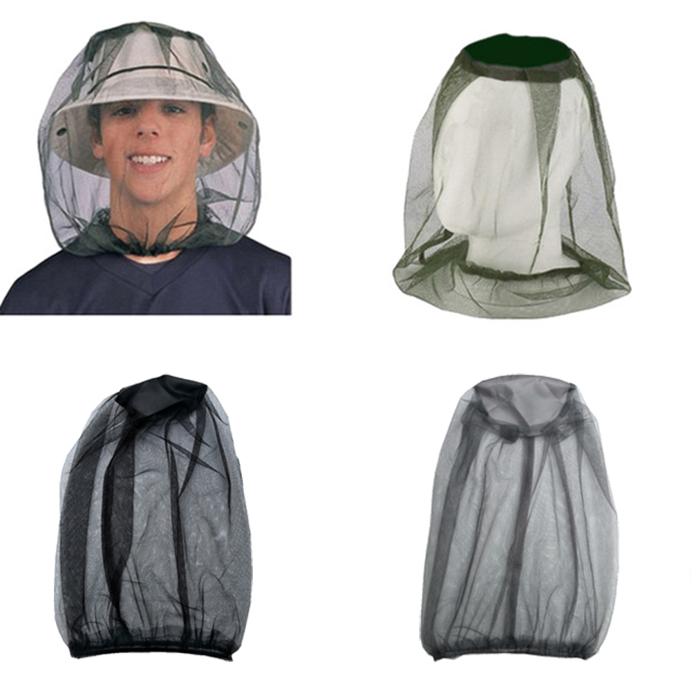 Mosquito Insect HEAD NET Bug Hat Mesh Face Protector For Travel Camping Fishing