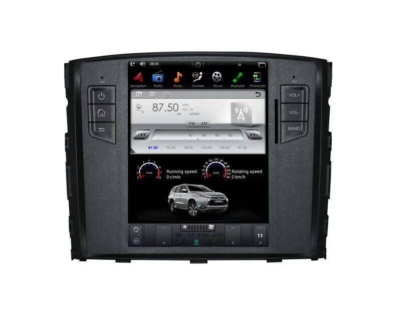 Nouveau Tesla Style 2 Din Android 7.1 voiture Radio GPS Navigation lecteur DVD pour MITSUBISHI Pajero V97 V93 Shogun Montero 2008-2016 3G - 3