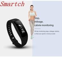 Smartch V07 Смарт-часы браслет сердечного ритма Мониторы Smart Band измерять кровяное давление Bluetooth браслет Беспроводной Фитнес для Android я