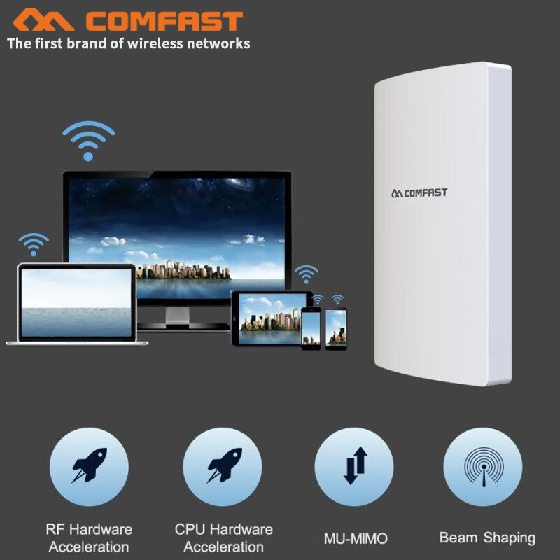 High Power 1300Mbps Gigabit Outdoor AP Weatherproof 27dbm Wireless Wifi Router/AP Repeater 5Ghz Long Range AP CPE Bridge Antenna