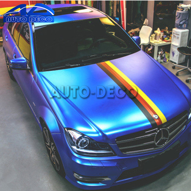 Germany national flag car hood roof decal stripe three colored car styling sticker