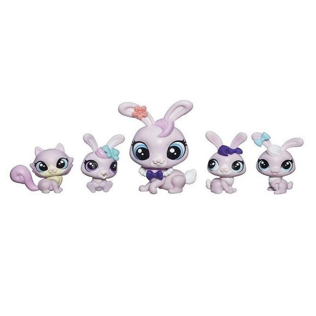 Lovely lps Toy cat Rabbit and panda Action Figure Cute Pet toys for children Birthday/Xmas Gift 5pcs/set