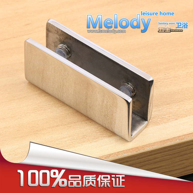 GC02 304 stainless Steel Shower Glass Clamps Clips Shelf Holder Support Brackets Glass Fixed Clamps 8pcs round shelves support brackets clamps clips for 4 6mm glass wooden acrylic adjustable screw fix for wood glass acrylic