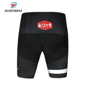 Image 3 - KUWOMAX מכירה לוהטת יוניסקס שחור אופניים נוחים תחתונים ספוג ג ל 3D מרופד אופני קצר רכיבה מכנסיים.