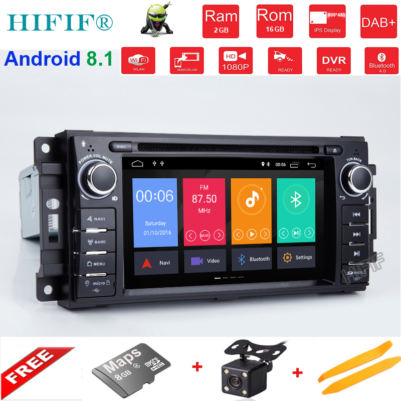 Quad Core Android 8.1CAR DVD player FOR JEEP <font><b>GRAND</b></font> <font><b>CHEROKEE</b></font> PATRIOT WRANGLE car audio gps stereo head unit Multimedia navigation image