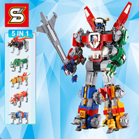 DHL Movie Series Combination Robot Compatible 16057 leSet 21311 Voltron Model Set Building Blocks Bricks kids Toys Boy Gifts