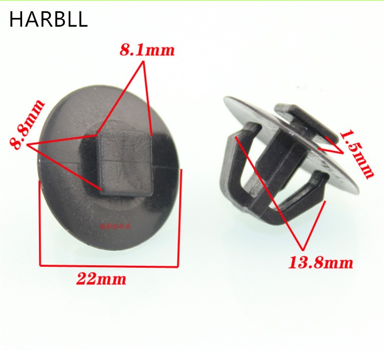 HARBLL Door of the rubbing strip molding decorative button clip card is suitable for the modern way IX35 lion run mentally new