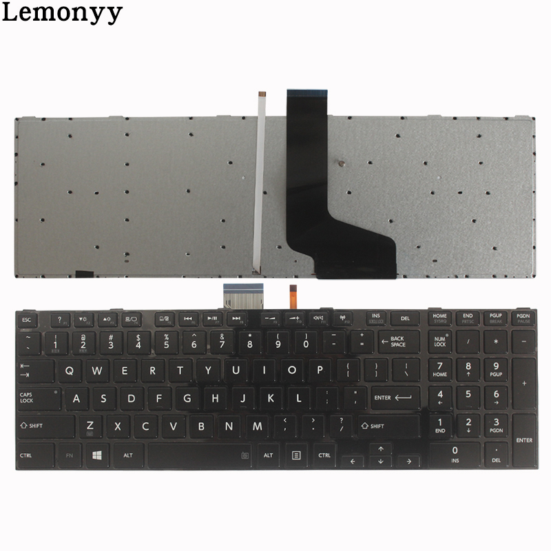 NEW US Keyboard For Toshiba satellite P850 P850D P855 P855D Laptop US Language US keyboard black With backlit цена