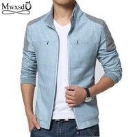 Mwxsd Brand Spring Autumn Men Jackets Fashion Casual Men S Coats Slim Fits Plus Size 3XL