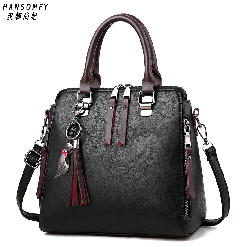 100% Genuine leather Women handbags 2019 New Ladies Handbag Women Messenger Bags TotesTassel Designer Crossbody Shoulder Bag100% Genuine leather Women handbags 2019 New Ladies Handbag Women Messenger Bags TotesTassel Designer Crossbody Shoulder Bag