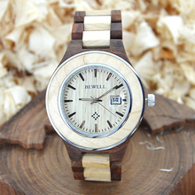 BEWELL Wood Watch Men Brand Watch Luxury 2016  Auto Date Display Men Watch For Sale Relogio Masculino Clock With Box 100AG