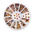 1 Wheel 1mm-2mm Nail Art 3D Rhinestones Decoration Colorful Gem Acrylic Beads Manicure with UV Gel Polish Fingernails DIY Design
