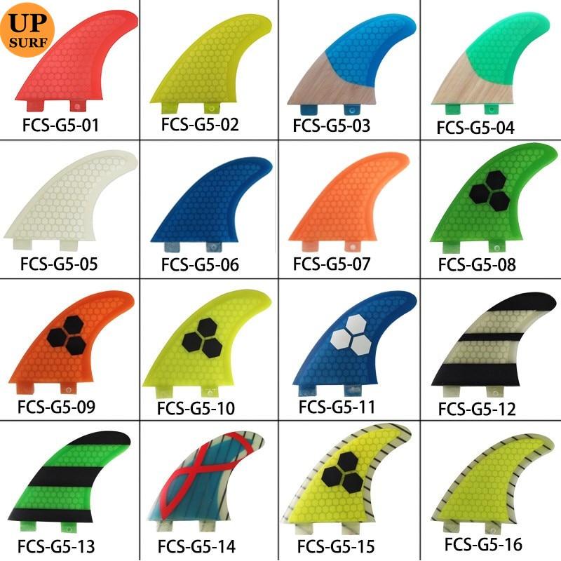 FCS Aletas G5 Fibra Aleta Honeycomb G5 Surf Quilla Surf FCS Aletas prancha quilhas de Tablas de surf Aleta Fibra de vidrio liquidación venta