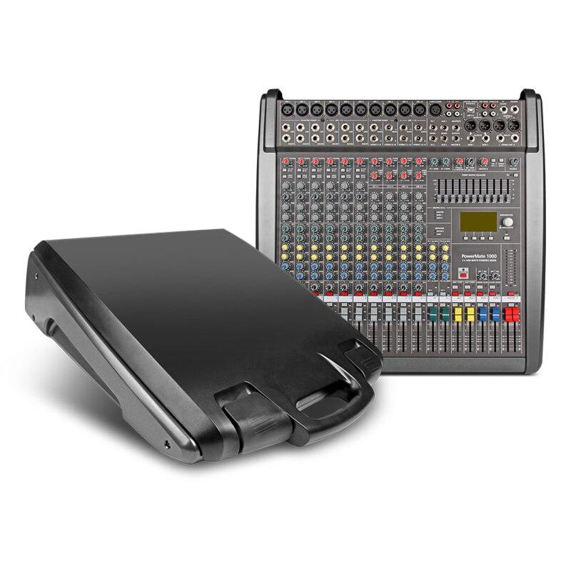 Power mate 1000-3 profissional áudio mixer console barra de música qualidade superior 48 volts phantom power 1000 watts * 2 amplificador de potência