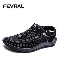 FEVRAL 2017 Nova Chegou Sandálias de Verão Homens Sapatos de Qualidade Homens Confortáveis Sandálias de Design de Moda Casual Homens Sandálias Sapatos