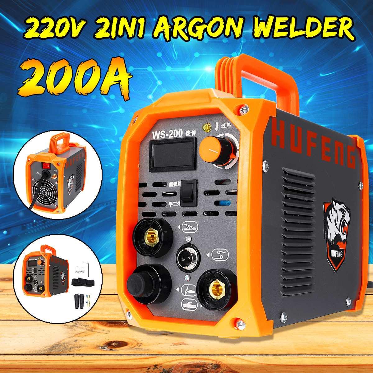 2IN1 200A Handheld Mini MMA IGBT Inverter 220V Portable Mini Electric ARC Welding TIG/STICK Argon Welder Inverter Machine Tools
