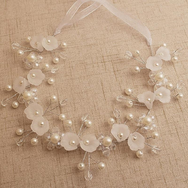 Vintage Bridal Headpiece Hair Accessories for Women Elegant Jewelry Flower Headband for Girls Silk Hair Bands Bun Maker Haedwear