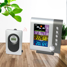 Digital Wireless Colorful LCD Display Indoor Outdoor Thermometer Hygrometer Weatherstation Clock Digitale Room Temperature Meter