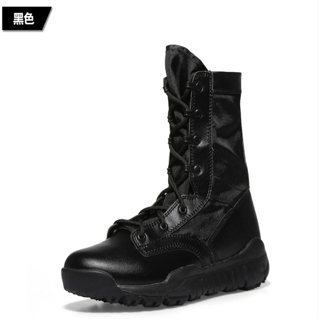 QPQ 2017 Summer High Quality 07 Ultralight Combat Boots Men High-top Breathable Waterproof Tactical Boots Military Men Botas