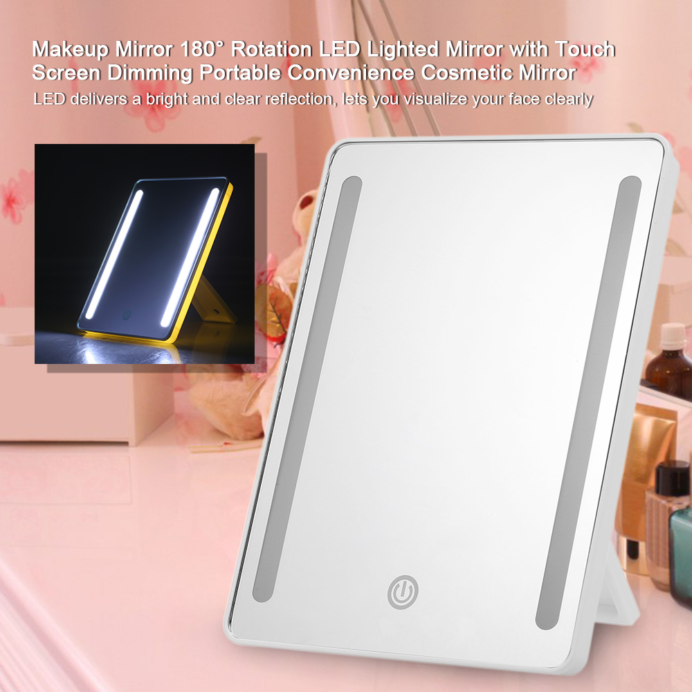 Aliexpress Com Buy Led Makeup Mirror 180 Rotation Led