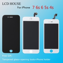 No Dead Pixel Grade AAA Screen Replacment For iPhone 6 LCD Display 6S 5S 4S 7 Touch 3D Digitizer