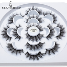 SEXYSHEEP 2/3/7pairs 15 25mm Faux 3D Mink Lashes Natural Long False Eyelashes Dramatic Fake Lashes Makeup Extension Eyelashes
