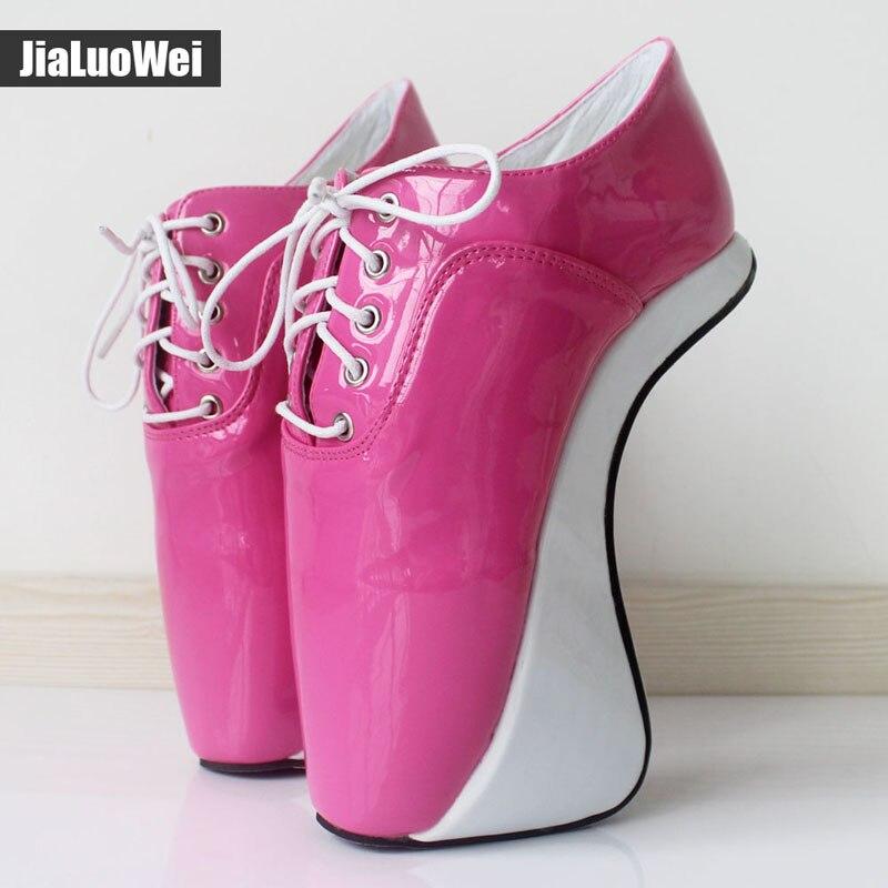 Фотография Women 2017 Ultra High Heels Fashion Sexy Pumps Elastic band Ankle Boots Short Plush Shiny Pointed Toe Hoof Heelless Ballet Shoes