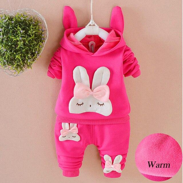 2ddf11fab Toddler Girls clothing Set Warm Cute Rabbit Children Tracksuit child ...
