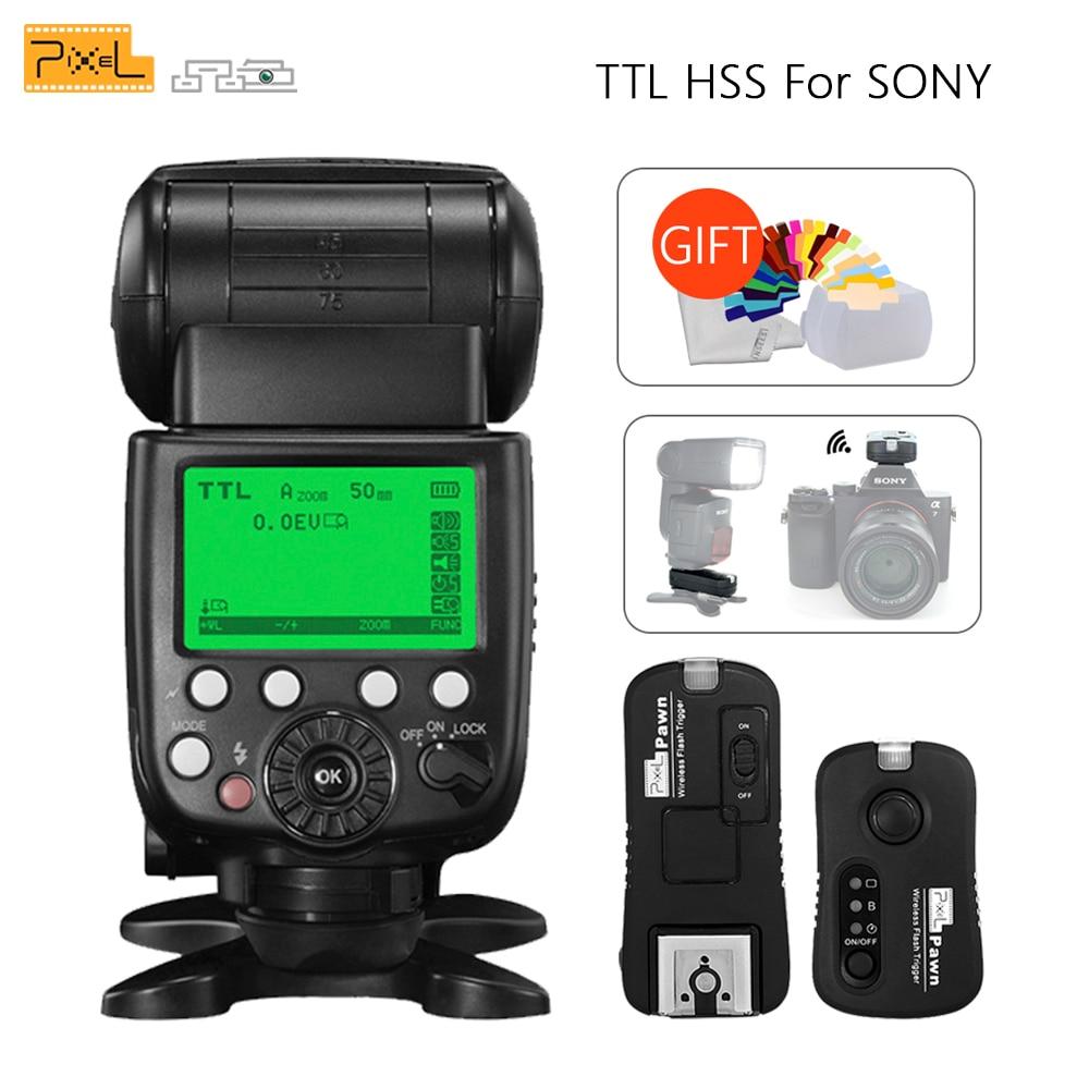 Pixel X800S X800 Standard TTL HSS GN60 Camera Flash For Sony A7 A7R RX1 A6000 & TF 365 Wireless Flash Trigger Yongnuo YN600EX