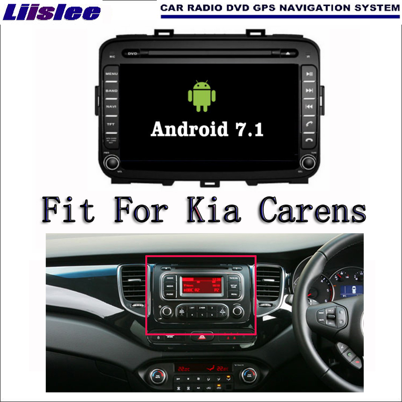 Liislee Android 7.1 2G RAM For Kia Carens 2013~2016 NEW Car Radio Audio Video Multimedia DVD Player WIFI DVR GPS Navi Navigation original new den so dvd navigation mechanism rae3370 for toyo ta b9004 b9001 vw mercedes lexuss audi 2g car audio gps