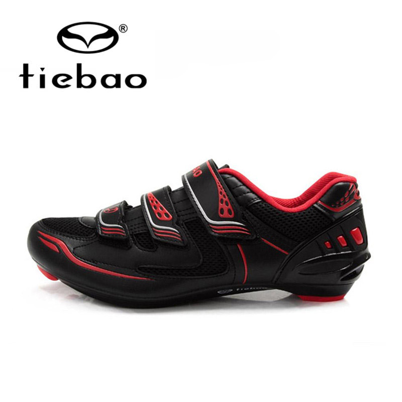 Tiebao Black Road Bike Shoes Ultralight Bicycle Road Shoes Men Cycling Shoes Self-Locking Sport Shoes zapatillas ciclismo sidebike mens road cycling shoes breathable road bicycle bike shoes black green 4 color self locking zapatillas ciclismo 2016