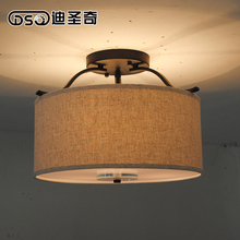 American Country Fabric  Ceiling Light Bedroom Loft Lamp Ceiling Light Dining Room Light D40/50CM Free Shipping