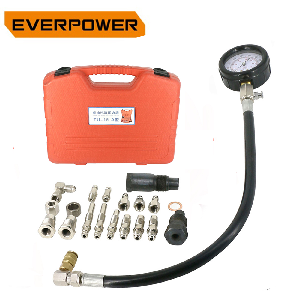 Everpower Diesel Engine Compression Cylinder Pressure Tester Gauge Diesel Cylinder Pressure Gauge Kit Set Everpower Diesel Engine Compression Cylinder Pressure Tester Gauge Diesel Cylinder Pressure Gauge Kit Set