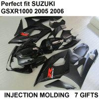 Black Hot injection body parts fairing kit for Suzuki GSXR1000 k5 k6 bodywork fairings set GSXR1000 2005 2006 LY44