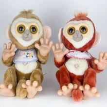 Забавная электронная обезьяна с ногами и руками, Двигающаяся плюшевая игрушка-робот-обезьяна, развивающие игрушки для детей, подарки на день рождения