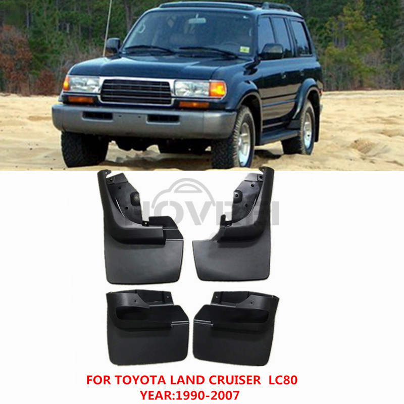 For Toyota Land Cruiser LC80 1990-2007 Mud Flaps Splash Guard Mudguards Fender  4PCS/Set 2000 2001 2002 2003 2004 2005 2006
