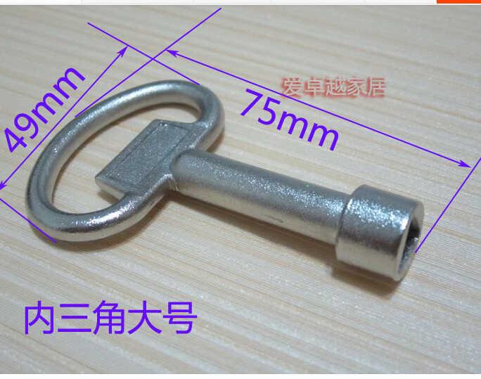2 pcs Elevador universal triangular chave chave chave da porta da válvula de aquecimento da válvula de água do vaso sanitário de trem