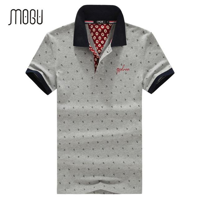 Mogu 2017 más el tamaño 5xl polo de los hombres de alta calidad de algodón transpirable polo de manga corta camisa de polo de los hombres camisa de lunares camisa de polo hombres