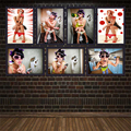 Nordic Modern Toilets Sexy Women Bar Bathroom Home Decoration Canvas Painting Wall Picture Beauty Hanging Poster Model Pop Art