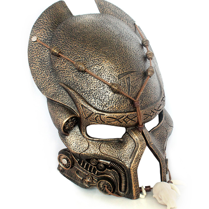 Predator Alien Movie Theme Mask for Party Halloween Christmas Cosplay Roleplay Resin Mask Adults Full Face