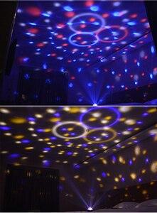 Image 5 - Mini LED Magic Disco Ball Night Light MP3 Bluetooth music player 5V home party stage lighting effect Dance Floor baby sleep lamp