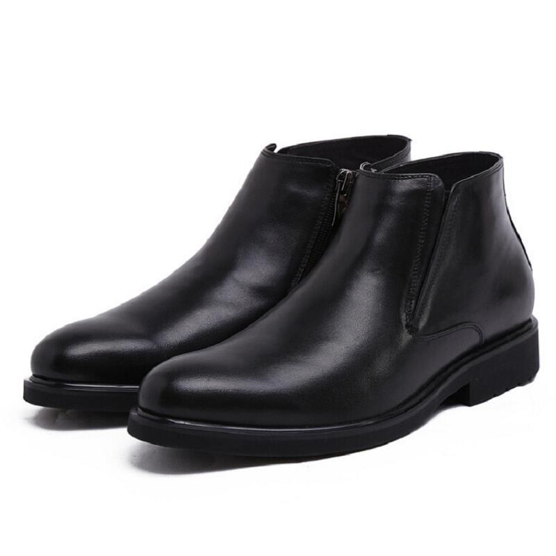 Dos Homens Preto Ankle Botas Novo Moda Luxo Couro Vestido Negócio Mycolen 2017 Masculinas Outono De Hombre Boots Sapatos a1tqREw