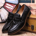 men shoes size 37-43  men oxfords Fashion lace up pointed toe pu leather Casual rubber shoes