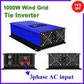 1000 Вт Бесплатная доставка 3-фазный вход переменного тока на выход переменного тока 190-260 в сеточный ветровой инвертор с регулятором нагрузки/...