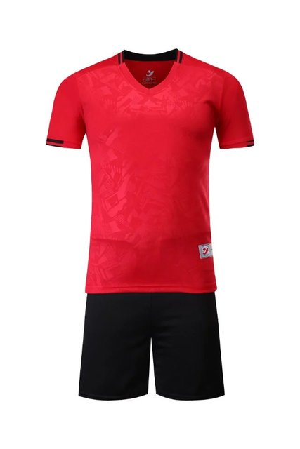 2017 gules Boys Kids Training T-shirts children sets runing football kits soccer team jersey Sports Athletic wear polo shirt